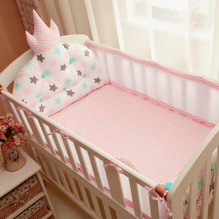ins造型床头靠垫婴儿夏季床围 纯棉宝宝夏天透气床上用品