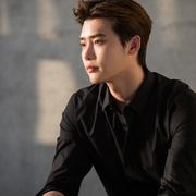 李钟硕明星同款黑色衬衫男长袖春夏季韩版职业修身女商务装白衬衫