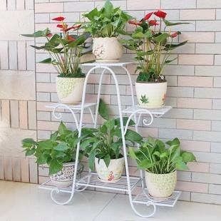花架置物架欧式铁艺花架子多层室内阳台客厅植物家用盆栽花盆