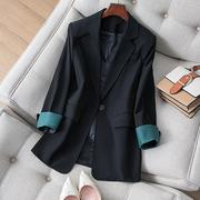黑色西装外套女春秋韩版修身显瘦气质网红休闲小西服上衣