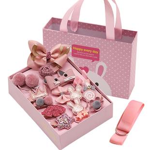 儿童发饰婴儿头饰女童发夹韩国皮筋可爱萌萌哒小宝宝公主发卡夹子