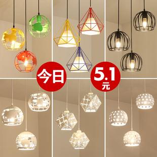 餐厅吊灯三头创意个性餐桌灯过道吧台卧室现代简约工业风餐吊灯具