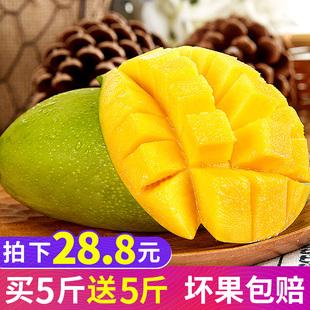 越南玉芒果10斤整箱当季应季新鲜水果进口甜心芒大青芒贵妃芒