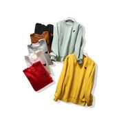 菩提猫欧洲站上衣女2019女装刺绣加绒净版卫衣圆领绒衫欧货潮