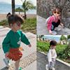 香港靓妞女童T恤长袖女宝宝春装上衣男童儿童打底衫纯棉春秋