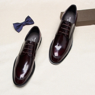 单鞋漆皮皮鞋商务皮鞋男真皮亮面正装皮鞋男鞋子婚鞋男潮