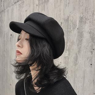 蓓蕾帽子女秋冬韩国ins网红冬天日系英伦时尚立体贝雷八角帽