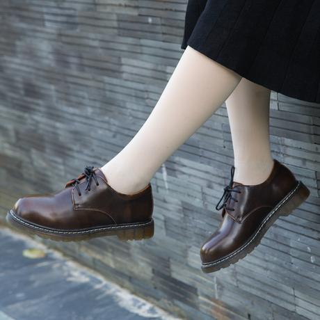 森系厚底鞋复古