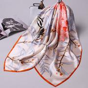 上海故事真丝丝巾女春秋大方巾100桑蚕丝围巾薄款夏季杭州丝绸