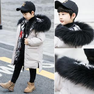 男童棉服冬装2018中长款洋气加厚羽绒棉衣儿童棉袄中大童外套
