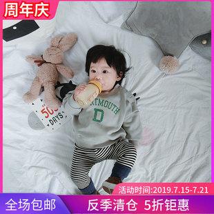 允儿妈童装宝宝卫衣秋冬反季圆领儿童套头衫宽松运动上衣潮