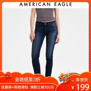 AEO American Eagle女士时尚低腰合身窄腿牛仔裤04321544