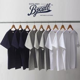 BPCALL32织vintage日本重磅厚实纯棉面料短袖T恤三本针打底男女款