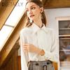 衬衫女长袖2019春装雪纺职业加绒加厚白色衬衣保暖打底衫上衣
