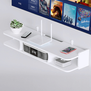 电视机顶盒置物架壁挂墙面免打孔客厅电视墙卧室墙上路由器收纳盒