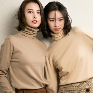 2018秋冬堆堆领针织衫女高领长袖套头毛衣女打底衫