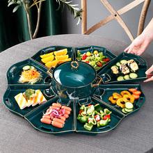 轻奢个性拼盘套装家用菜盘陶瓷盘子带蘸醋碟汤碗年夜饭团圆餐具