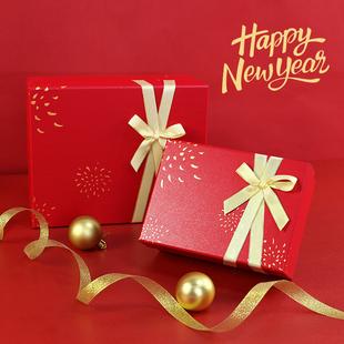 新年盒礼盒大号长方形围巾包装盒春节礼物盒情人节礼物包装盒