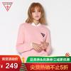 GUESS情侣款2018秋情侣款女士倒三角LOGO套头卫衣-YI3K9455K