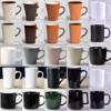 纯色磨砂陶瓷杯子ins北欧水杯刻字简约创意咖啡杯马克杯定制LOGO