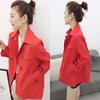欧洲站2019欧货潮春装外套女红色小个子流行宽松气质短款风衣