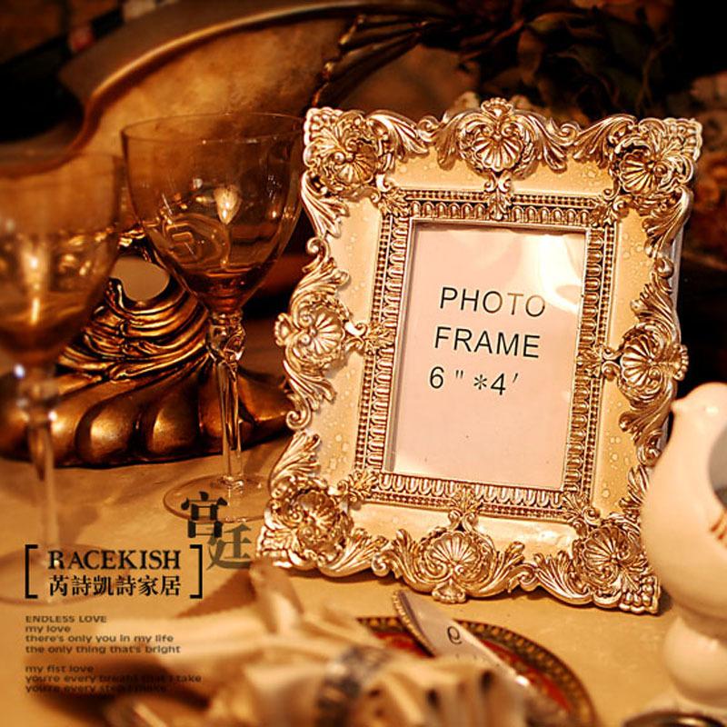 芮诗凯诗 欧式复古相框 5寸 6寸优质树脂浮雕像框画框图片