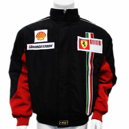F1赛车服 法拉利 长袖外套 棉服夹克 刺绣LOGO RJ061-3W