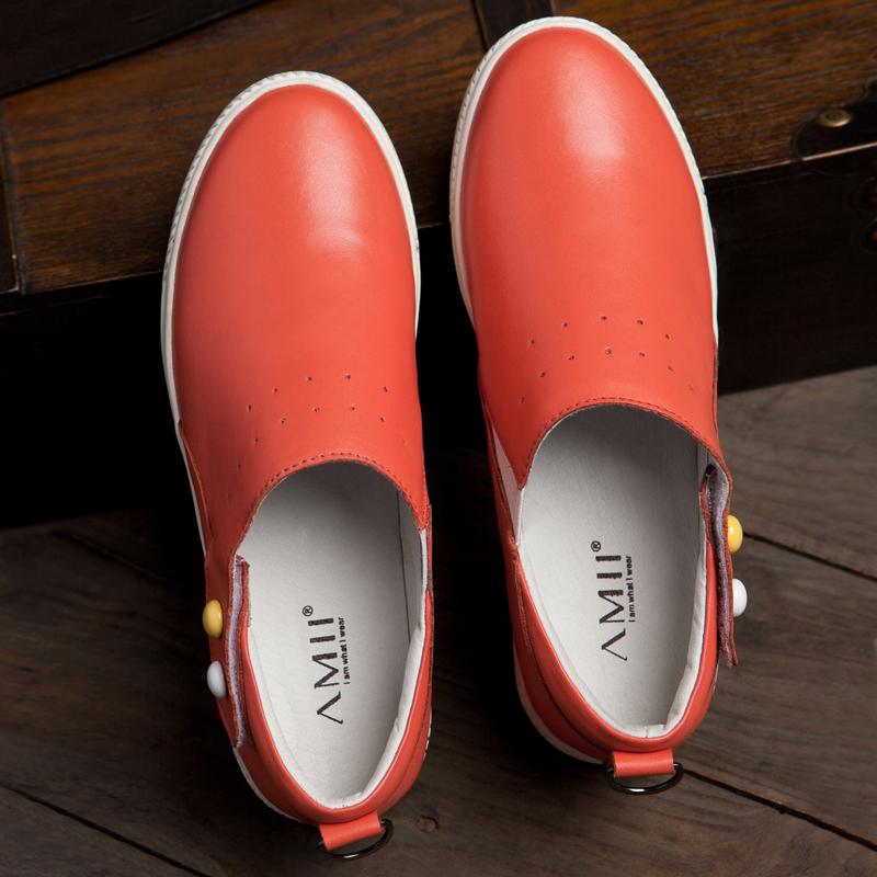 туфли Amii 11240240 Ковбойский каблук Мягкая кожа Верхний слой из воловьей кожи
