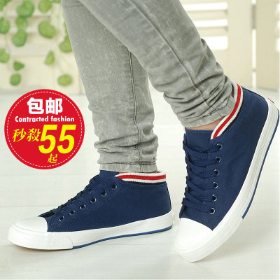 Spring 2015 Korean version of high-top canvas shoes, men's shoes tide breathable couple flat casual shoes student shoes