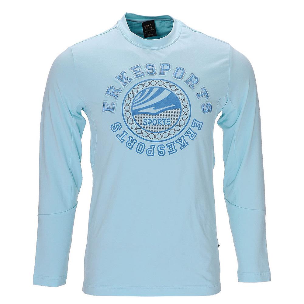 Спортивная футболка The Erke 13031174/60ysun ERKE 13031174-60 Закругленный вырез Длинные рукава (рукава ≧ 58см) Нейлон Спорт на открытом воздухе С логотипом бренда