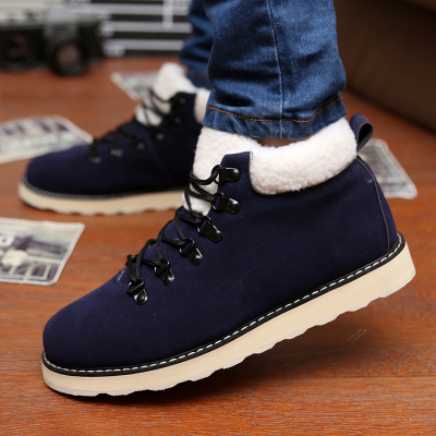 Warm winter snow boots male cotton-padded shoes couple models of men's shoes tide Martin boots Korean female boots male boots