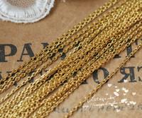 高品质 镀24K金铜链 亚金亚银1.5mm0链 手工饰品配件diy