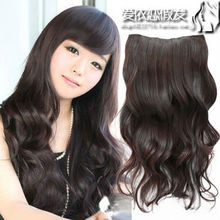 A receiver chip 5 card is a realistic girl more big wave curl in the long nature curly hair wigs