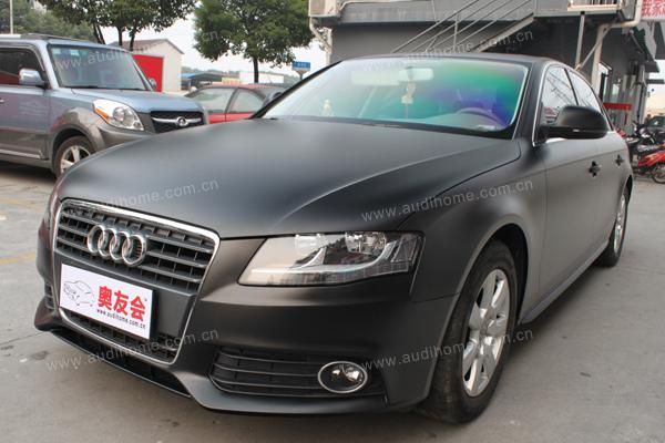 Финиш-пленкой Мэтт heiyaguang черный цвет цвет цвет наклейки фольги тела автомобили (Audi a4l) хранить строительство