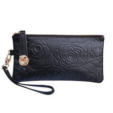 LanNiu lazy cow leather hand bag long wallet Clutch 2013 Lucky buckle purse