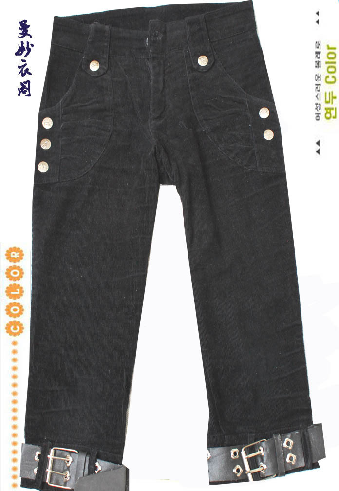 Женские брюки Распродажа * одежда * корейской версии декоративные шнуры высокого качества с обрезанные брюки (s) слегка включены классика моды Шорты