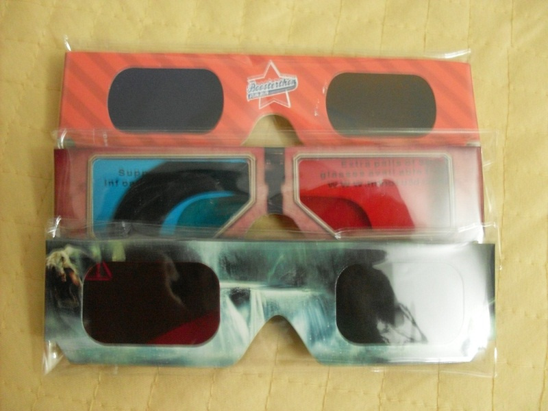 3D очки Продать бумаги 3D очки 3D стерео очки красные и синие 3D-очки фильтр цветовой эффект ваше удовлетворение!