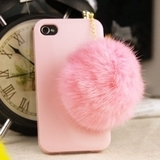 The new Rhinestone hair ball iphone44s dust proof plug the Apple the lovely cellphone headsets hole dustproof plug