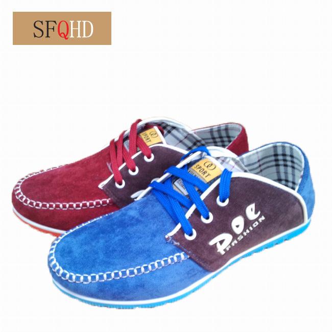 Демисезонные ботинки Domestic brands FJX Обувь на тонкой подошве ( для скейтборда ) Для отдыха Ткань Круглый носок Шнурок Весна и осень