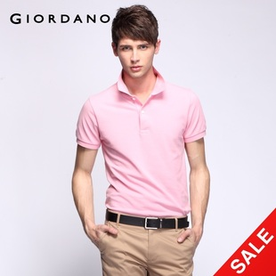 Giordano men's  new quality Pearlescent snap up limited edition in summer POLO01010014