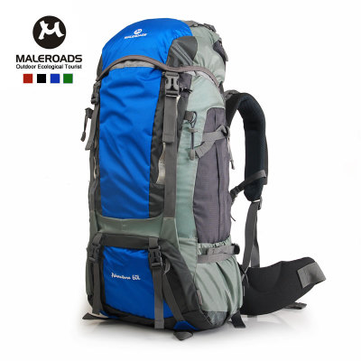 Mailu Shi large capacity outdoor waterproof hiking backpack bag men and women shoulder bag 60L send Covers