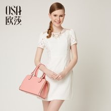 OSA Ou Sha Xiao Xiangfeng 2014 Summer New Women's Lace Skirt Short Sleeves Dress SL430022