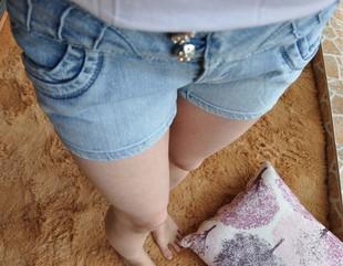 Джинсы женские Окончательный Распродажа Цена Европы внешней торговли qb брюки оригинальный синий снег. Плюс размер джинсовые шорты шорты