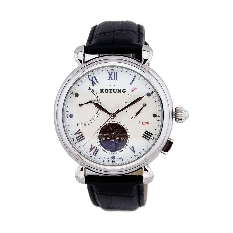 古腾品牌正品手表 钢带防水男士石英表 复古男表