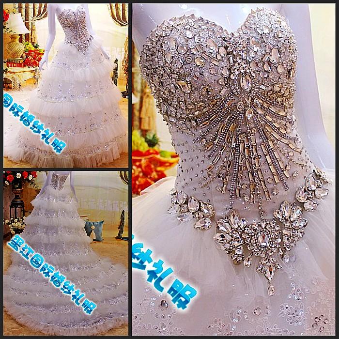 Свадебное платье Xi Jiang International xj87654 2012 2012 Сетчатый материал Юбка-пачка Корейский