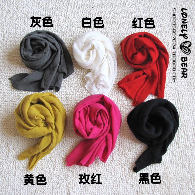 шарф Специальные отдыха Джокер поло Однотонный шарф 10 цветов в Женское Шарф