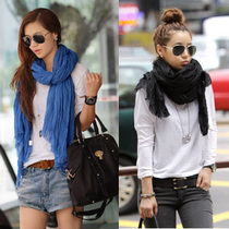 HIV-bean pure color fold scarf extra long wild warm scarf scarves shawl women scarf
