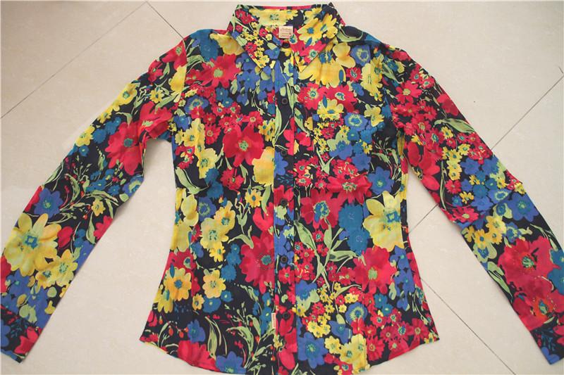 женская рубашка Холлистер Калифорнии Чайка Солнечный тонкой хлопчатобумажную рубашку