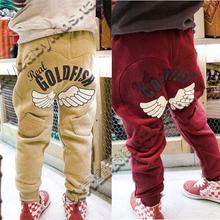 2011春装韩版新款4色金鱼男童装女童装宝宝马裤靴裤kz-0044