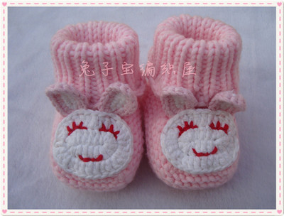New SpecialsHand-knitted baby shoes, baby shoes soft soled shoes Tall boots socks